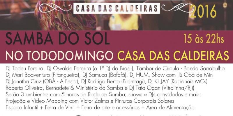 Samba do Sol no TODODOMINGO