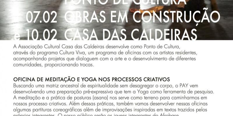 OFICINA DE MEDITAÇÃO E YOGA